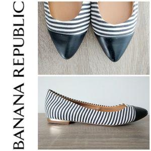 banana republic NAVY pointed toe flats